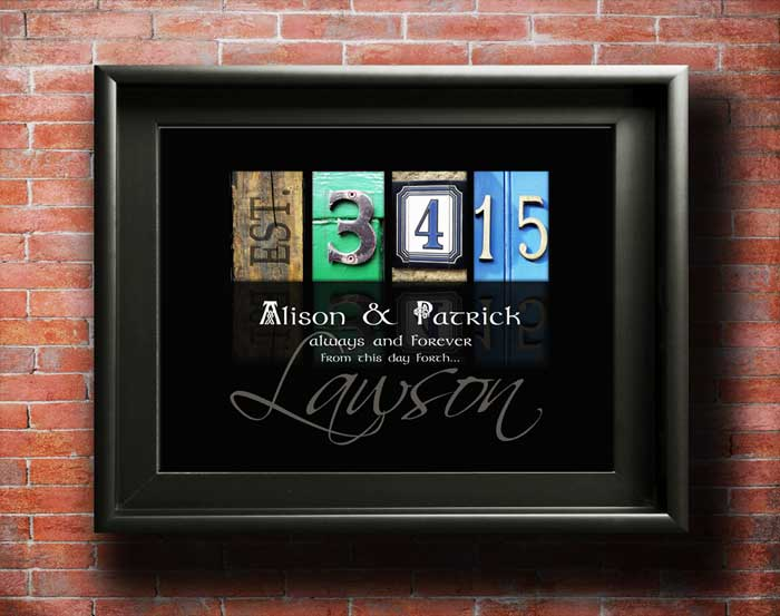 Wedding Gift Ideas | For Bride & Groom | Any Date Designed | Letter Art