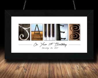 Alphabet Photography forty fifty sixty one two three four five six seven eight nine Birthday Gift