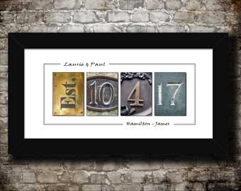Custom Wedding, Anniversary Date Prints, Signiture date Prints