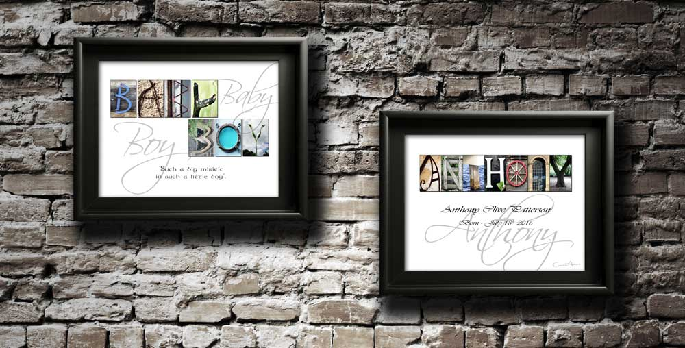 A New Baby Boy Girl Happy Birthday Christening Letter Art Inspiring Quote Gift
