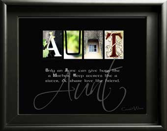 Aunt Aunty Niece Nephew Letter Art Inspirational Quote Christmas Thanksgiving Digial Download DIY Unique Gift