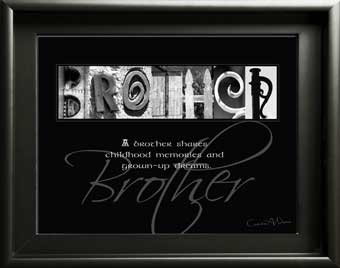 Letter Art Brothers Brother Famliy Inspirational Quote  Christmas, Birthday Digial DIY  Housewarming Gift
