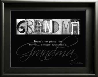 Grandma Granny Grand Mother Nana Letter Art Inspirational Quote Birthday Mother's Day Thanksgiving Grandchild Digial DIY Gift