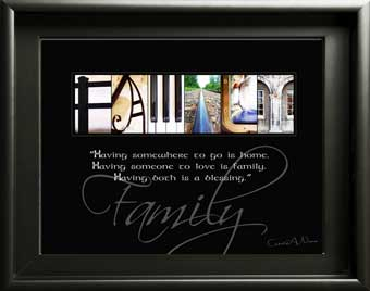 Family Home Alphabet Art Inspirational Quote Christmas Thanksgiving Digial Download DIY Gift