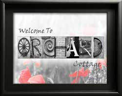 House Name Letter Art Cottage Orchard Ivy Rose Alphabet Photography Home Decor Housewarming