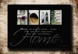 Custom Made Home Letter Art Inspiring Quote Alphabet Photography Decor  Housewarming Christmas DIY Gift