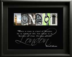 London Letter Art Inspiring Famous Quote Alphabet Photography Gift Samuel Johnson Birthday Christams Digital Download Place Names