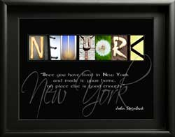 Persanalised New York Letter Art Famous Quote Alphabet Photography Gift, John Steinbeck Quote Digital Download DIY Gift