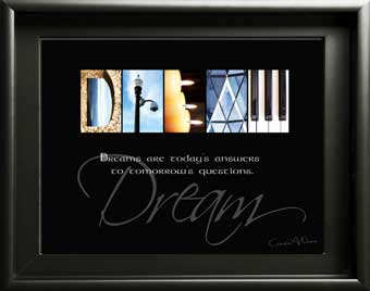 Dream Letter Art Image With Inspirational Quote Digital Download DIY Gift Housewarming Xmas Boy Girl Friend