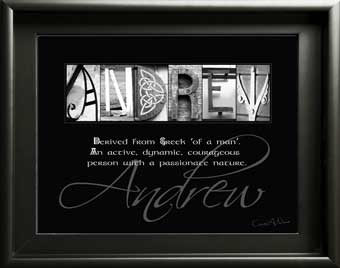 Personalized Baby boy Name Meaning  St. Andrew David London Nathan Domanic Isaac Nicholas letter art Gift