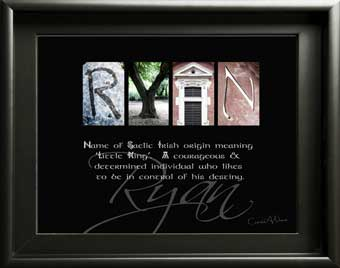 Ryan Name Meaning Letter Art First Name Alphabet Photography Gift What does My Name Mean?