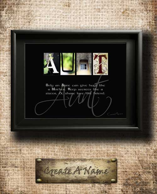 Aunt Aunty Quotes Family Home Decor Alphabet Art Inspirational Christmas Thanksgiving Birthday Gift