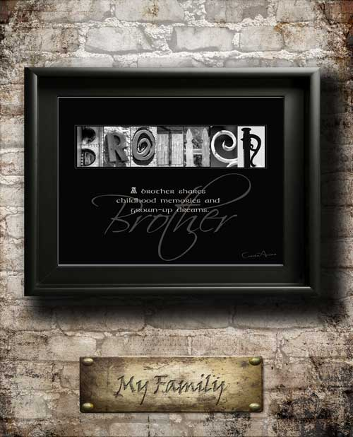 Brother Quotes Son Daughter Dad Family Home Decor Alphabet Art Inspirational Christmas Thanksgiving Birhtday Digial Download DIY Gift