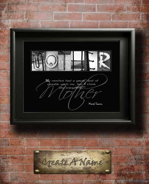 Mother Quotes Son Daughter Dad Family Home Decor Alphabet Art Inspirational Christmas Thanksgiving Mothers Day Gift