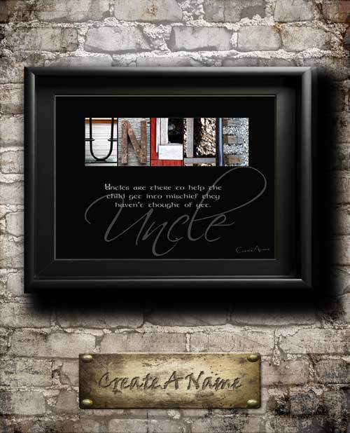 Uncle Quotes Gifts Family Home Decor Alphabet Art Inspirational Christmas Thanksgiving Birthday Gift
